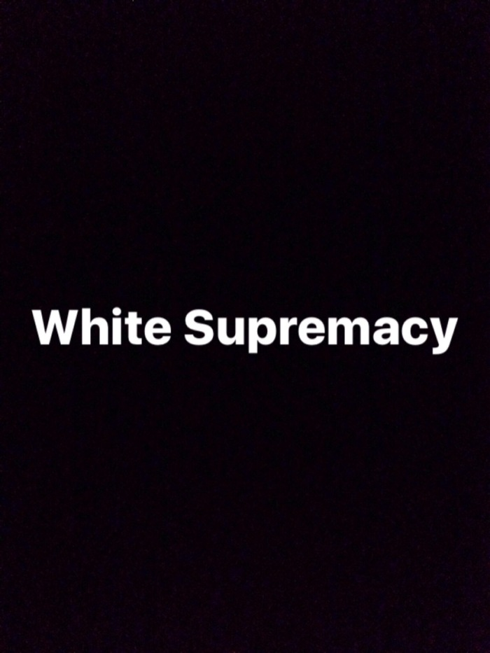 White Supremacy Is My Problem